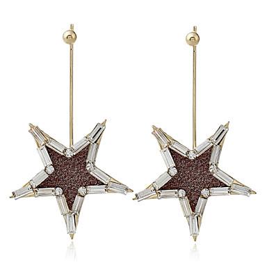 Dame Dråpeøreringer Rhinstein Unikt design Legering Stjerne Smykker Hverdag Stadie Kostyme smykker