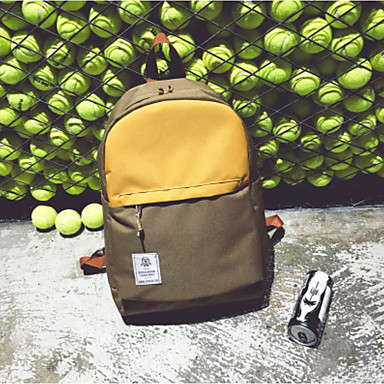 Unisex Bags Canvas Backpack for Casual All Seasons Red Dark Blue Gray Dark Green khaki
