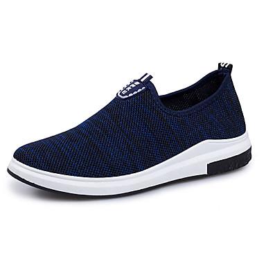 Herre sko Strikket Vår Høst Lette såler Treningssko Gange til Avslappet utendørs Svart Mørkeblå Blå