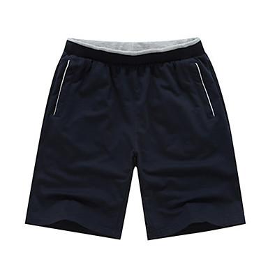 Men's Running Shorts Casual/Daily Shorts for Running/Jogging Exercise & Fitness Polyester Loose White Dark Blue L XL XXL XXXL XXL-XXXL