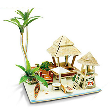 3D Puzzles Jigsaw Puzzle Wood Model Model Building Kits Toys Architecture 3D DIY Wood Not Specified Pieces