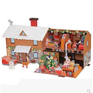 3D Puzzles Paper Model Model Building Kits Paper Craft Toys Square House 3D DIY Hard Card Paper Unisex Pieces