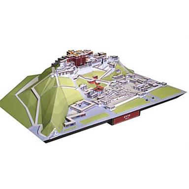 3D palapeli Paperimalli Neliö Kuuluisa rakennus Kiinalainen arkkitehtuuri Arkkitehtuuri DIY Kova kartonki Kiinalaistyyli Unisex Lahja