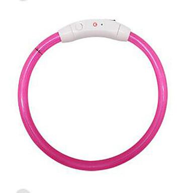 Cachorro Trelas / Artigos DIY Reflector / Ajustável / Portátil Sólido Plástico Azul Escuro / Vermelho / Rosa claro