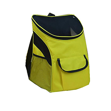Cat Dog Carrier & Travel Backpack Pet Carrier Portable Breathable Solid Color Block Yellow Green