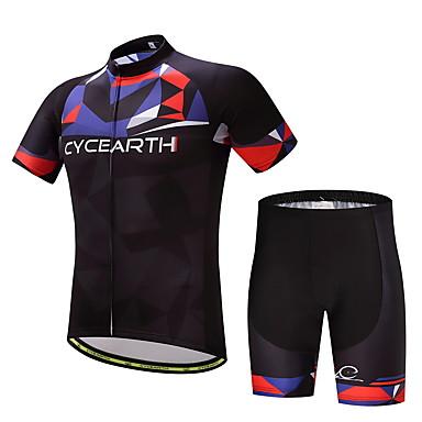 Homens Camisa com Shorts para Ciclismo Moto Conjuntos de Roupas, Secagem Rápida