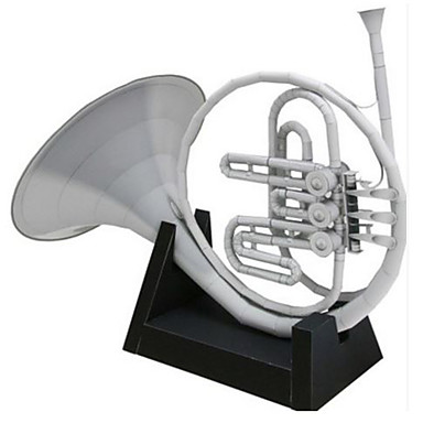 Quebra-Cabeças 3D Maquetes de Papel Artesanato de Papel Brinquedos de Montar Instrumentos Musicais Trompa Simulação Artigos de mobiliário