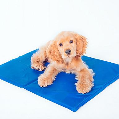 Cat Dog Bed Pet Mats & Pads Solid Foldable Dark Blue
