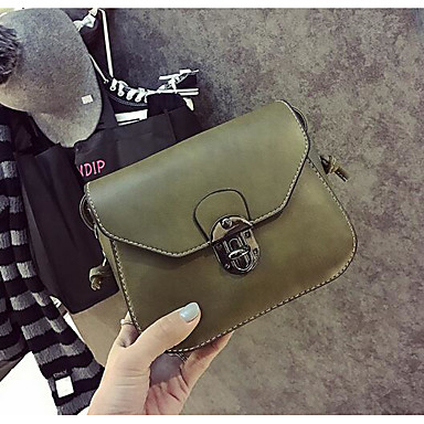 Women Bags All Seasons PU Shoulder Bag for Casual Outdoor Green Black Gray Brown