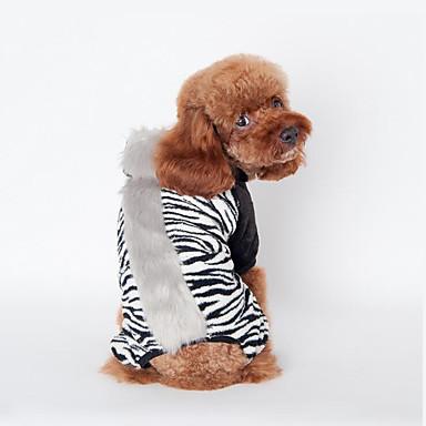 Cachorro Colete Roupas para Cães Casual Zebra Preto Marron Rosa claro Ocasiões Especiais Para animais de estimação