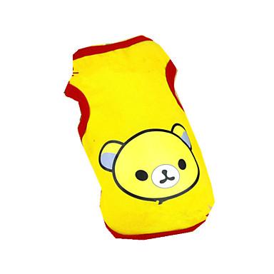 Cachorro Camiseta Roupas para Cães Casual Desenho Animado Amarelo Ocasiões Especiais Para animais de estimação