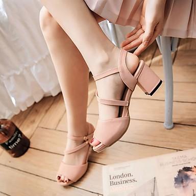 ouvert Boucle Bottier Sandales Automne Marche Femme Similicuir Nouveauté Polyuréthane Habillé Bout pour Chaussures Talon Eté 06010641 Confort wOBqg7