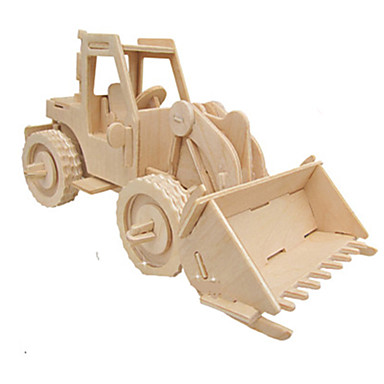 3D Puzzle Jigsaw Puzzle Wood Model Car Simulation DIY Wood Classic Construction Truck Set Kid's Adults' Unisex Gift