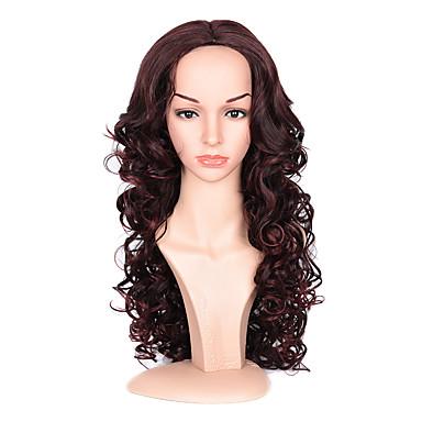 Syntetisk hår Parykker Bølget Lokkløs Naturlig parykk Lang Rød