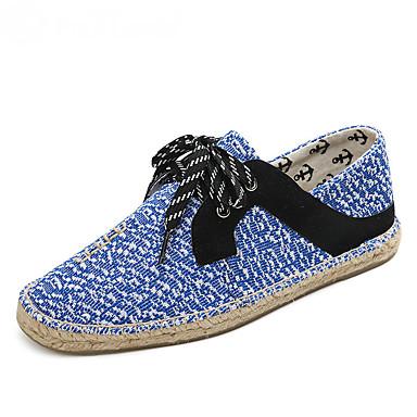 Homens sapatos Tricô Algodão Verão Outono Solados com Luzes Alpargata Mocassim Tênis Pregueado Elástico Combinação para Casual Escritório
