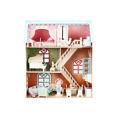 3D építőjátékok Fejtörő Babaház Papírmodell Zongora Népszerű épület Fa Gyermek Lány Ajándék