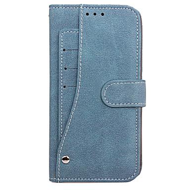 Capinha Para Samsung Galaxy S8 Plus S8 Porta-Cartão Carteira Flip Capa Proteção Completa Côr Sólida Rígida PU Leather para S8 Plus S8 S7