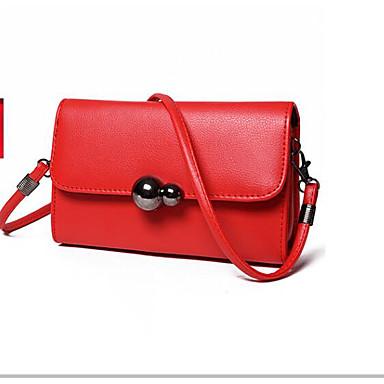 Women Bags All Seasons PU Shoulder Bag for Casual Outdoor Red Gray Fuchsia