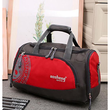 Unisex Bags All Seasons Polyester Travel Bag for Casual Outdoor Blue Green Black Orange Red