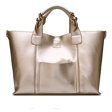 Women's Bags Cowhide Tote for Outdoor Gold / Black / Wine