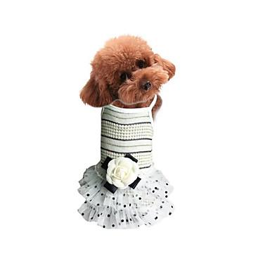 Hund Kjoler Hundeklær Prinsesse Beige Rosa Bomull Kostume For kjæledyr Sommer Herre Dame Fritid / hverdag