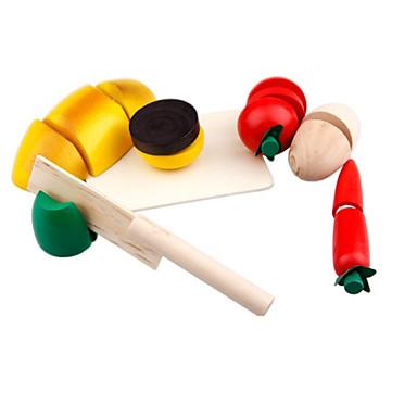 Conjuntos Toy Cozinha Comida de Brinquedo Brinquedos de Faz de Conta Brinquedos Quadrada Vegetais Cortadores de Frutas e Vegetais Frutas