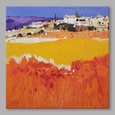 Håndmalte Landskap Kvadrat, Kunstnerisk Lerret Hang malte oljemaleri Hjem Dekor Et Panel