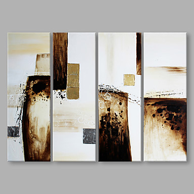 Oil Painting Hand Painted - Abstract Artistic Canvas / Three Panels / Stretched Canvas