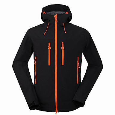 Men's Hiking Softshell Jacket Outdoor Winter Waterproof Thermal / Warm Windproof Rain-Proof Breathable Wearproof Jacket Top Camping /