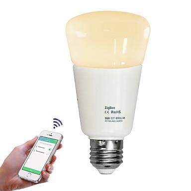 JIAWEN 1pç 9W 720lm E26 / E27 Lâmpada Redonda LED Contas LED Regulável Controle Remoto Branco Quente Branco Frio 110-240V