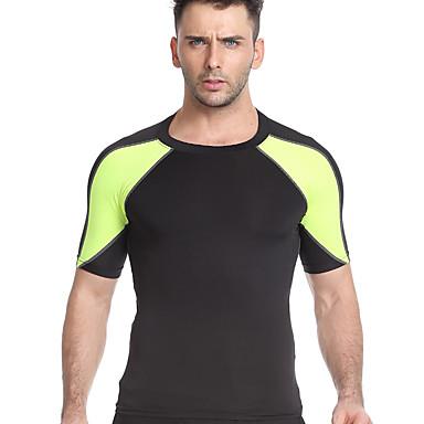 Miesten Juoksupaita Fitness, Juoksu & Yoga Nopea kuivuminen Hengittävä Kompressiovaatteet varten Jooga Kuntoilu Juoksu Harmaa