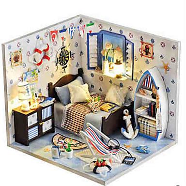 Dukkehus Liksomspill Girl Doll Modellsett GDS Hus Plastikker Klassisk Deler Unisex Gave