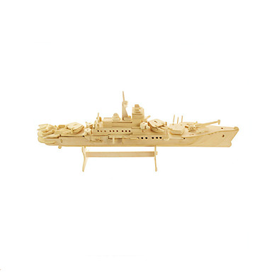 3D Puzzles Jigsaw Puzzle Wood Model Model Building Kit Warship Aircraft Carrier 3D Wooden Wood Aircraft Carrier Unisex Gift