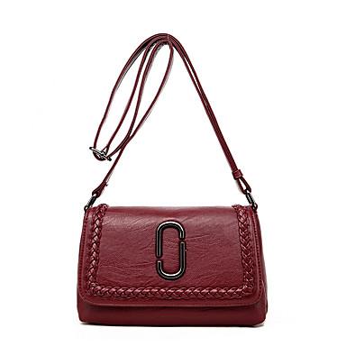 Women Bags All Seasons PU Shoulder Bag for Casual Blue Black Purple Wine