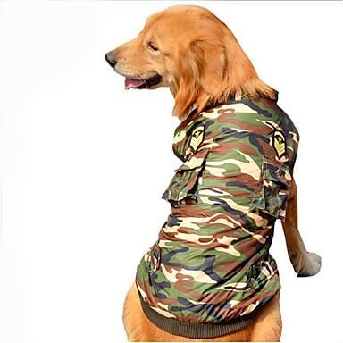 Hund Kjeledresser Hundeklær Politi / Militær Bomull Kostume For kjæledyr Herre Dame Fritid / hverdag
