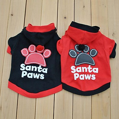 Hund Kostume / Trøye / T-skjorte Hundeklær Bokstav & Nummer Svart / Rød Bomull Kostume For kjæledyr Cosplay