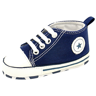 Lány Cipő Vászon Tavasz / Nyár Első cipő / Kényelmes Papucsok & Balerinacipők Gyalogló Fűző mert Hétköznapi / Szabadtéri Zöld / Rózsaszín