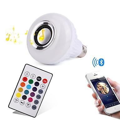 YWXLIGHT® 12W 1000lm E27 Lâmpada de LED Inteligente 28 Contas LED SMD Bluetooth Regulável Decorativa Controle Remoto RGB 100-240V