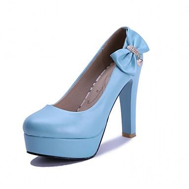 Mulheres Sapatos Couro Ecológico Courino Sintético Primavera Outono Inovador Conforto Saltos Caminhada Salto Agulha Ponta Redonda Laço