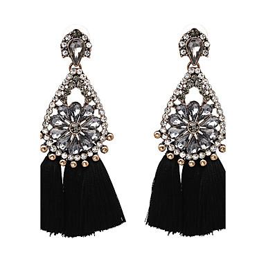 Women's Luxury Oversized Drop Earrings - Luxury Oversized Black Beige Purple Red Blue Geometric Earrings For Birthday Graduation Daily