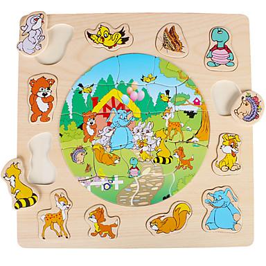 Quebra-Cabeça Jogos de Madeira Modelos de madeira Brinquedo Educativo Quadrada De madeira Madeira Crianças Dom