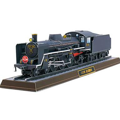 voordelige 3D-puzzels-3D-puzzels Bouwplaat Trein Stoomlocomotief DHZ Hard Kaart Paper Trein Kinderen Unisex Speeltjes Geschenk