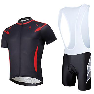 ILPALADINO Camisa com Bermuda Bretelle Unisexo Manga Curta Moto Calções Bibes braço aquecedores Meia-calça Camisa/Roupas Para Esporte