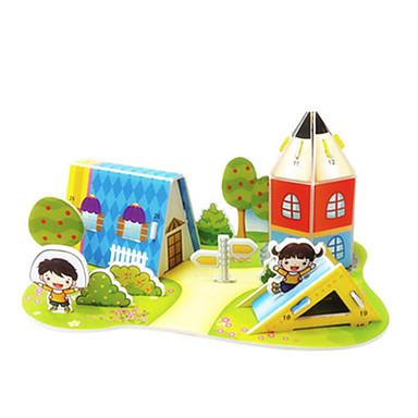 3D Puzzles Jigsaw Puzzle Model Building Kits Toys Famous buildings House Architecture 3D DIY Hard Card Paper Not Specified Unisex Pieces