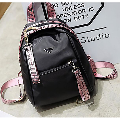 Women Bags All Seasons PU Backpack for Casual Gold Silver Blushing Pink
