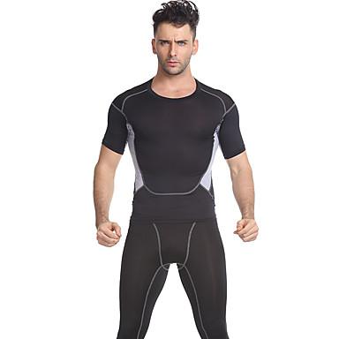 Moletom Manga Curta Fitness, Corrida e Yoga Respirável Conjuntos de Roupas para Ioga Exercício e Atividade Física Fitness Corrida