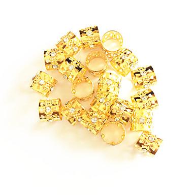 Wig Accessories Fém Braiding Gyöngyök Napi Klasszikus Ezüst Aranyozott Vegyes szín