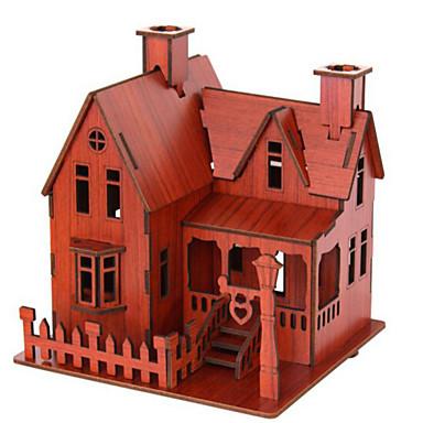 3D építőjátékok Fejtörő Népszerű épület Ház Fa Uniszex Ajándék