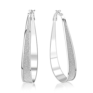 Women's Tassel Hoop Earrings - Silver Plated Personalized, Classic, Vintage Silver For Christmas Party Birthday