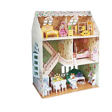 3D - Puzzle Holzpuzzle Puppenhaus Papiermodel Mädchen Puppe Modellbausätze Berühmte Gebäude Architektur 3D Heimwerken Naturholz 6 Jahre